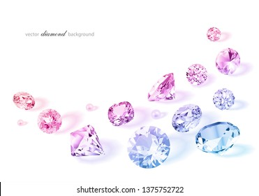 Luxury colorful background with diamonds for modern design