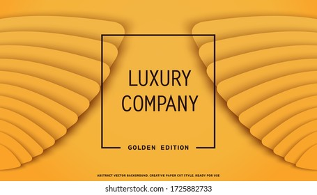 Luxury Company. Elegant layered wings design. Paper cut style. Vector background.