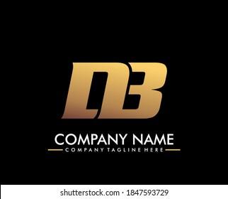 Luxury company logo. logotype letterhead DB. creative icon logo sign symbol template