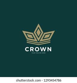 Luxury crown logo icon. Universal crown design. - Vector