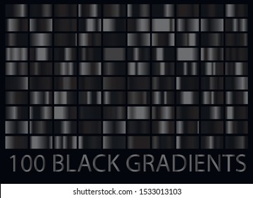 Luxury dark black metal big collection with gradients