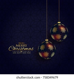 luxury dark christmas festival background design