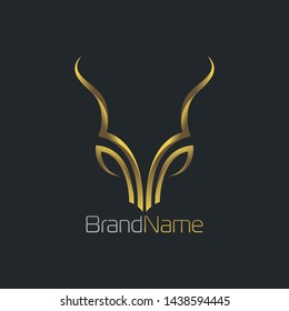 Luxury Deer Logo With Gold Color