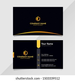 Luxury design graphic gold black Name Business Card minimalist template