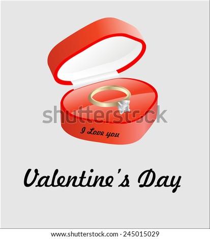 Luxury Diamond Wedding Ring Red Velvet Stock Vector Royalty Free