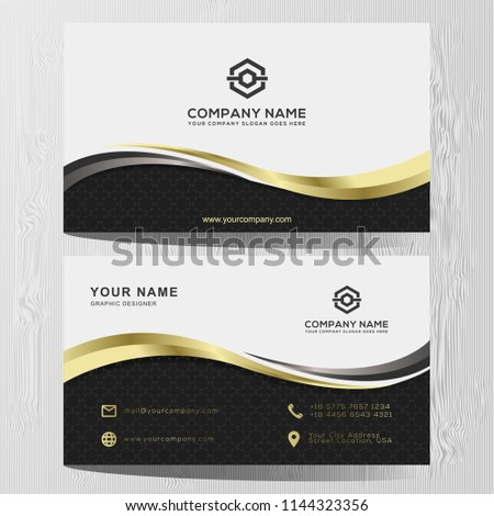 Luxury Elegant Black Gold Business Cards Stock Vector Royalty Free