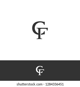 Luxury Elegant Letter C & F (CF) Logo / Icon Template. Initial Logo for Hotel, Law Firm Group, Hotel, Exclusive Brand & Watch Company