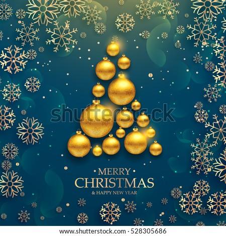 luxury elegant merry christmas happy new stock vector royalty free