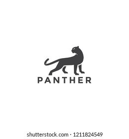 Luxury elegant Panther logo