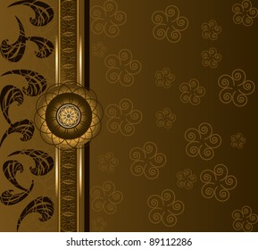 Luxury floral background. Coffee & chocolate time motif.