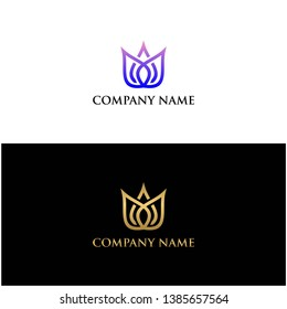 luxury flover logo and vector