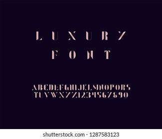 Luxury font set