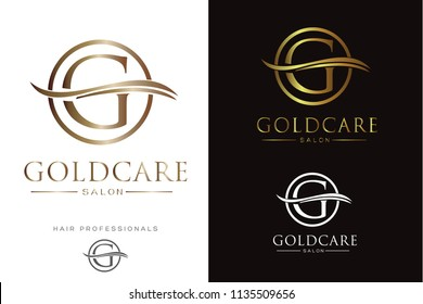 Luxury G Letter in circle Logo/Icon