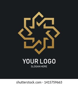 Luxury geometric Royal Logo Inspired by the Moroccan Arab architecture