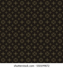 Luxury geometric seamless floral vector pattern in vintage fashion style.