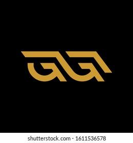 luxury GG G&G initial letter logotype icon logo vector elegant