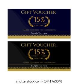 Luxury Gift Voucher Design Template