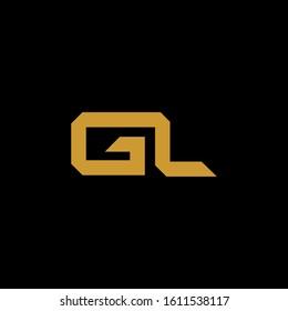 luxury GL G L LG initial letter logotype icon logo vector elegant