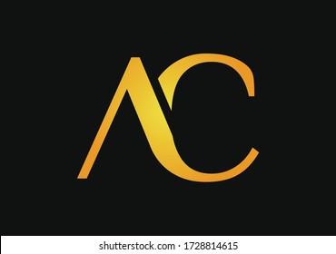 Luxury Gold AC Letter Logo