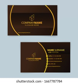 Luxury Gold business card template Premium Vector