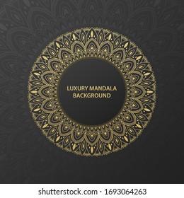 Luxury gold ornamental mandala background. Mandala with floral patterns. Vector illustration