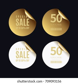 Luxury golden badge and labels collection