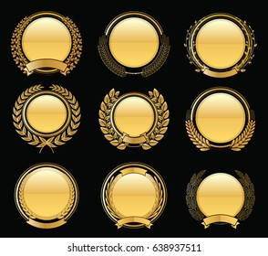 Luxury Golden Badges Laurel Wreath Collection