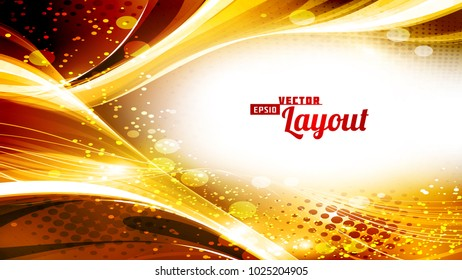 Luxury golden greeting card. Vector