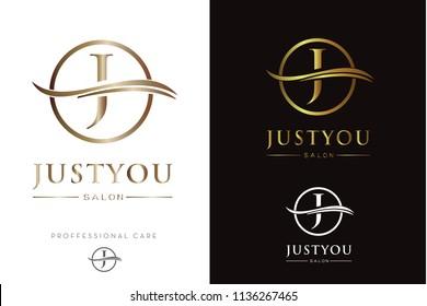 Luxury Golden Monogram J Logo/Icon