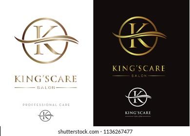 Luxury Golden Monogram K Logo/Icon