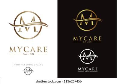 Luxury Golden Monogram M Logo/Icon