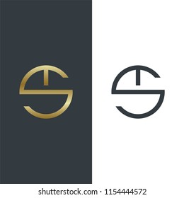 Luxury Golden shape and monochromatic one, Creative, Modern, Abstract, Initial, Logo Vector Elegant, Abstract emblem, design concept, 5K logotype element for template,