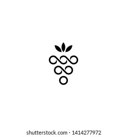 A luxury grape logo icon.
