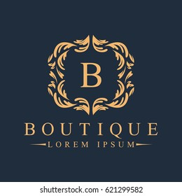 Luxury, Heraldic, Royal, Decoration, Boutique Logo. Interior Icon. Fashion, Jewelry, Beauty Salon, Hotel Logo. Cosmetics, Spa Logo. Resort and Restaurant Logo. Crow Icon.
