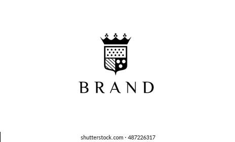 Luxury heraldic vector logo template. Vector blazon