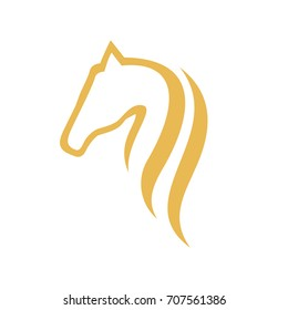 Luxury Horse Logo Vector