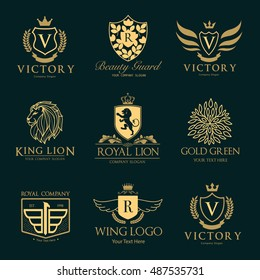 Luxury hotel crest logo collection