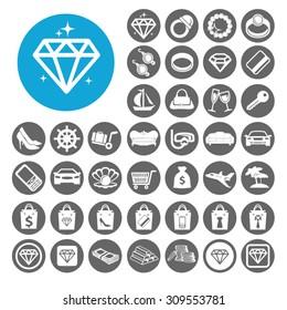 Luxury icons set. Illustration EPS10