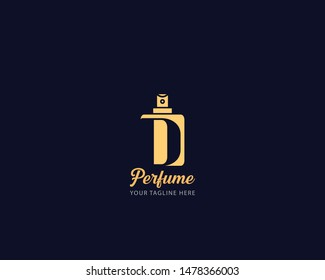 Luxury Initial alphabet Letter D Perfume perfumery logo design vector illustration can be used for cosmetics spray beauty fragrance business eps 10 fully editable