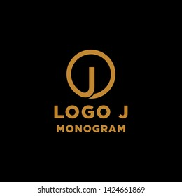 luxury initial j logo design vector icon element isolated