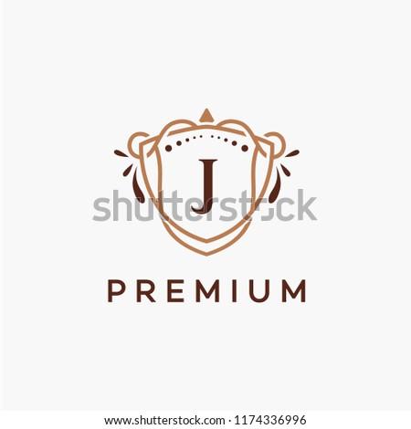Luxury J Initial Logo Frame Symbol Stock Vector (Royalty Free ...