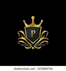 Luxury King P Letter Logo