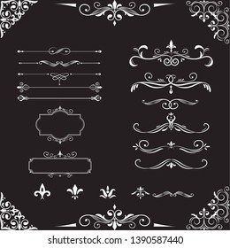 Luxury label vector Design black and white