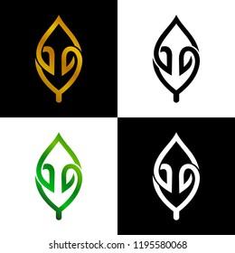 luxury leaf line logo