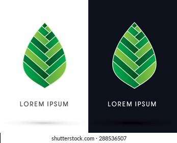 Luxury Leaf, lotus shape, graphic, vector.