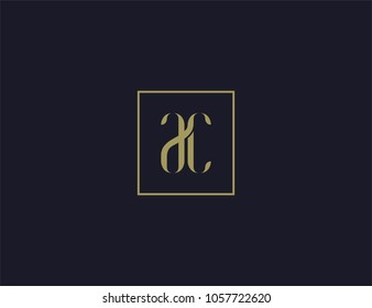 luxury letter AC logo design template