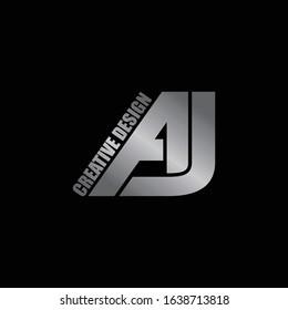 Luxury letter AJ logo icon design vector