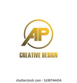 Luxury letter AP logo icon design vector