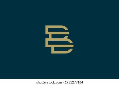 Luxury letter B logo design