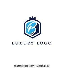 Luxury letter B logo design.